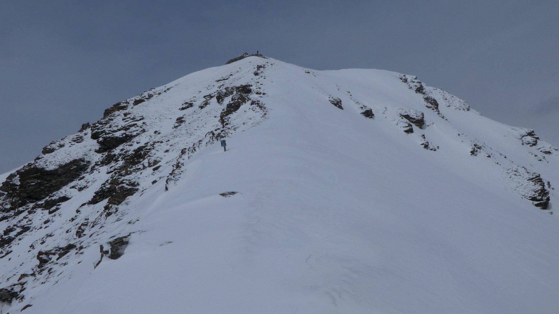 la cresta Est del Monte Gran Costa vista dal colletto di quota 2400 m