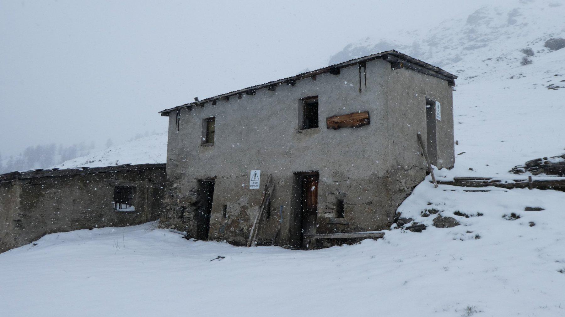 alpeggio in rovina alle pendici del Monte Gran Costa