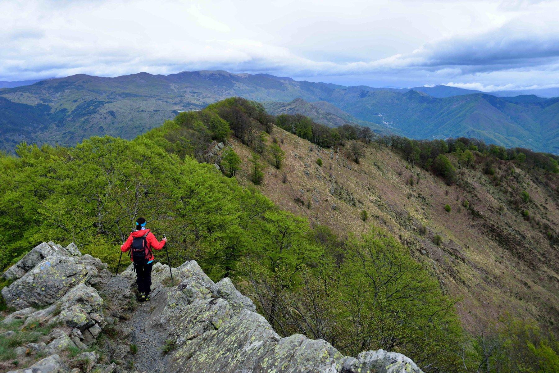 Scendendo lungo la cresta Est del Ramaceto