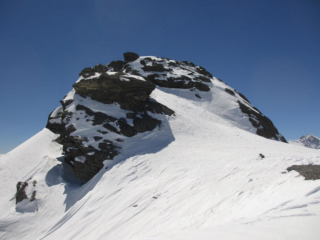 Gli ultimi metri prima della cima di R. Bianca