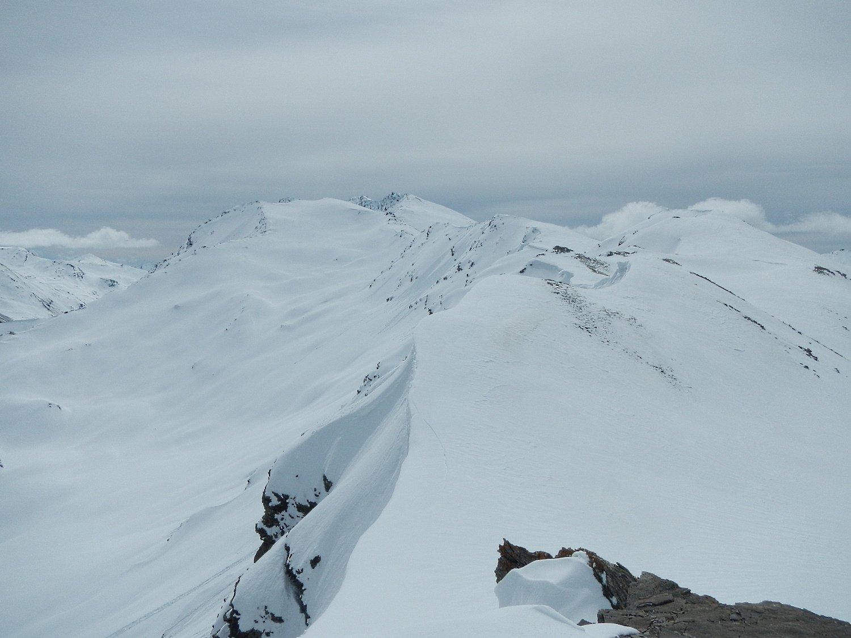 dalla cima: vista sul percorso del Monte Terra Nera