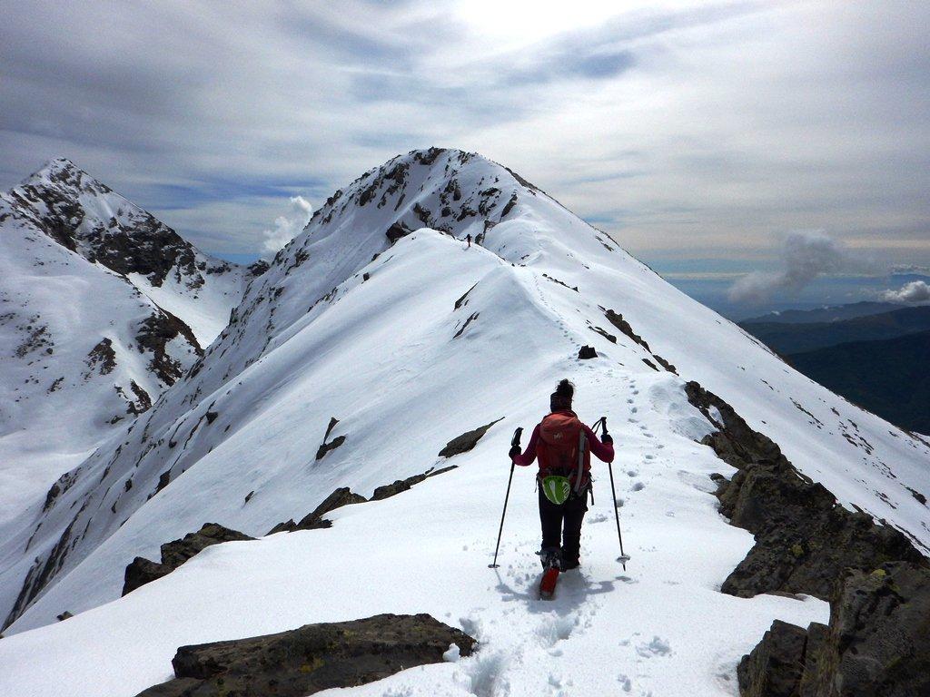 La cresta verso la cima Peigrò
