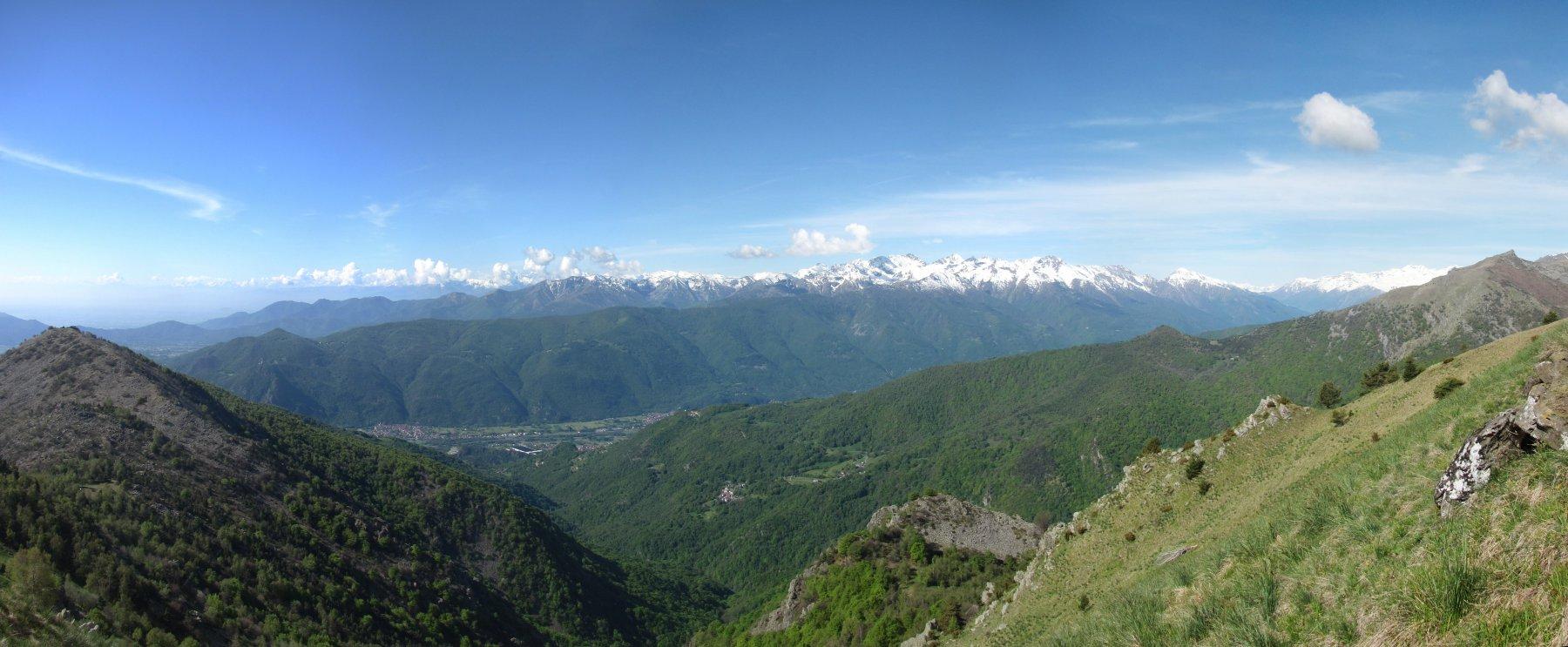 Panorama dal Monviso al gruppo Orsiera-Rocciavré
