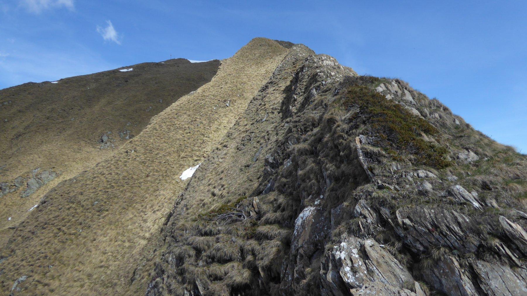 Cresta spartiacque di salita alla Rosta