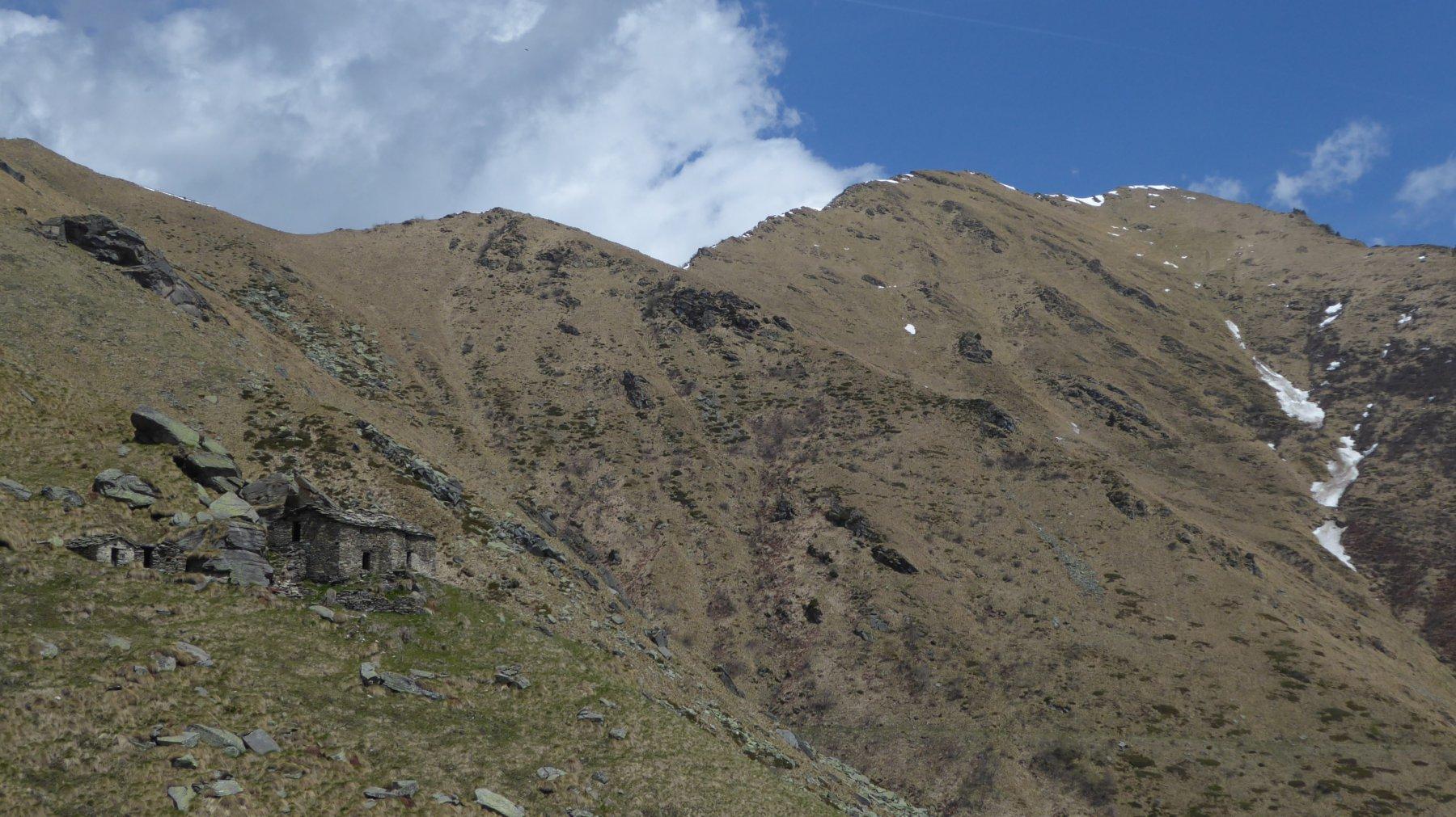 Alpe Balmeneire inferiori con sfondo Cima Rosta