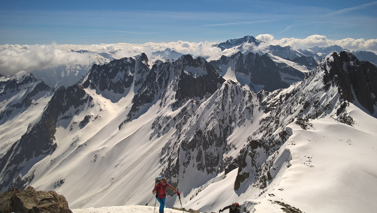 Panorama verso cima dell'Agnel