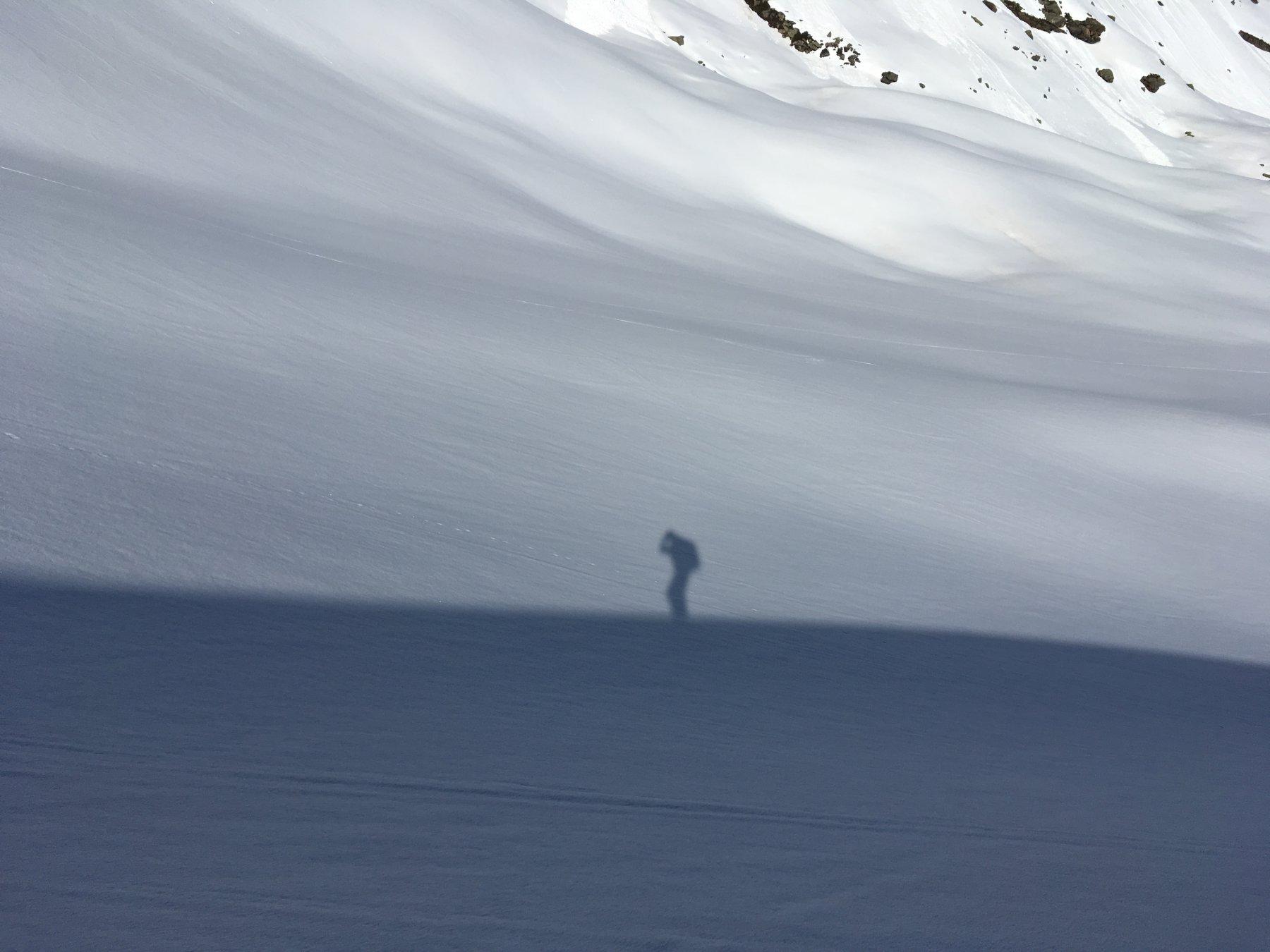 un'ombra sul ghiacciaio