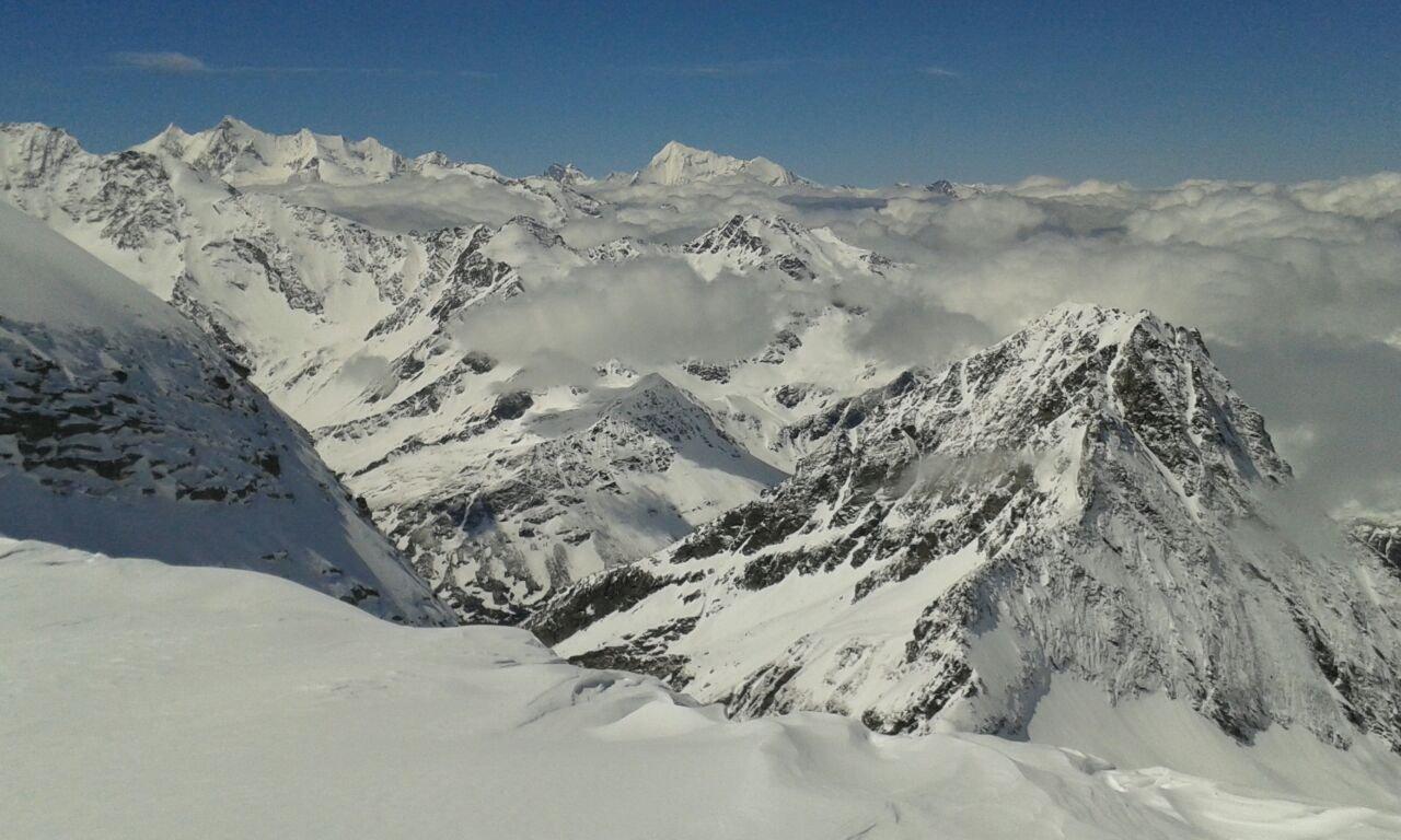 Panorama spaziale dalla vetta