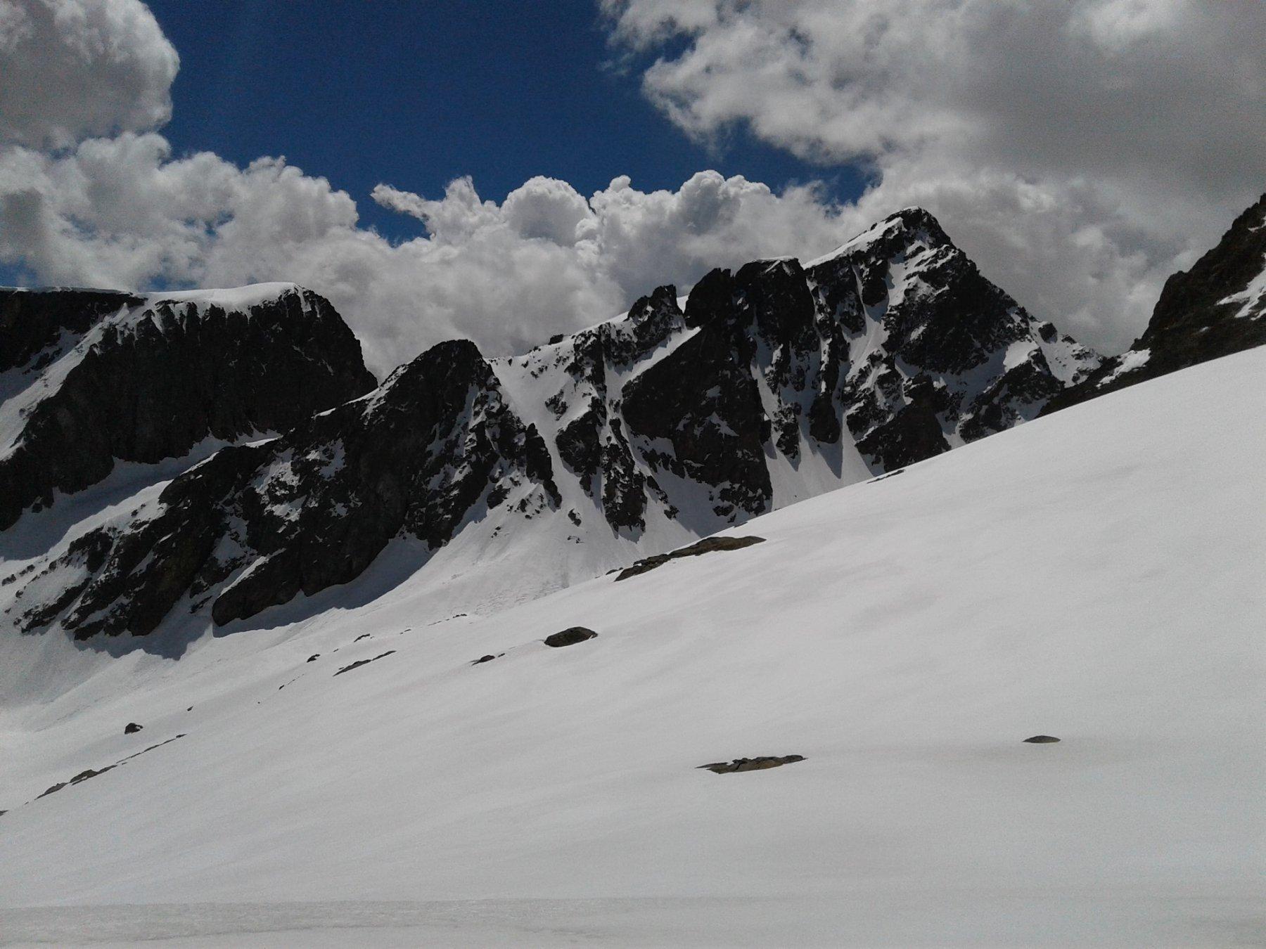 Il canale Nord del Becco Alto d'Ischiator