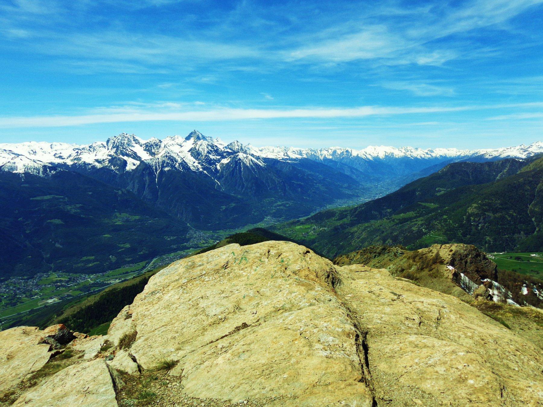 Panorama verso Emilius, Becca di Nona, Becca di Salè