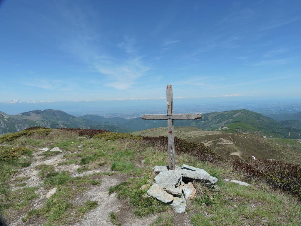 La prima croce sul Baussetti