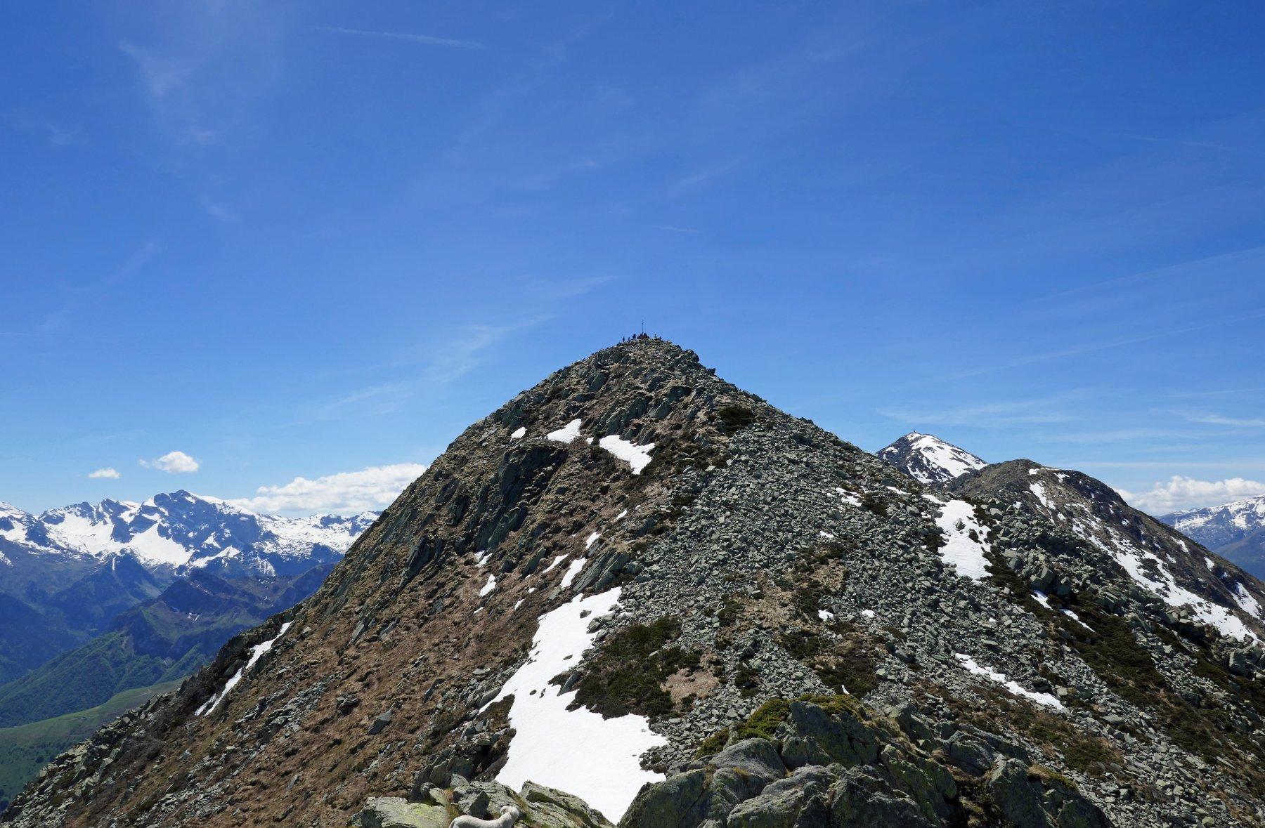 La cima Sud vista dalla Nord