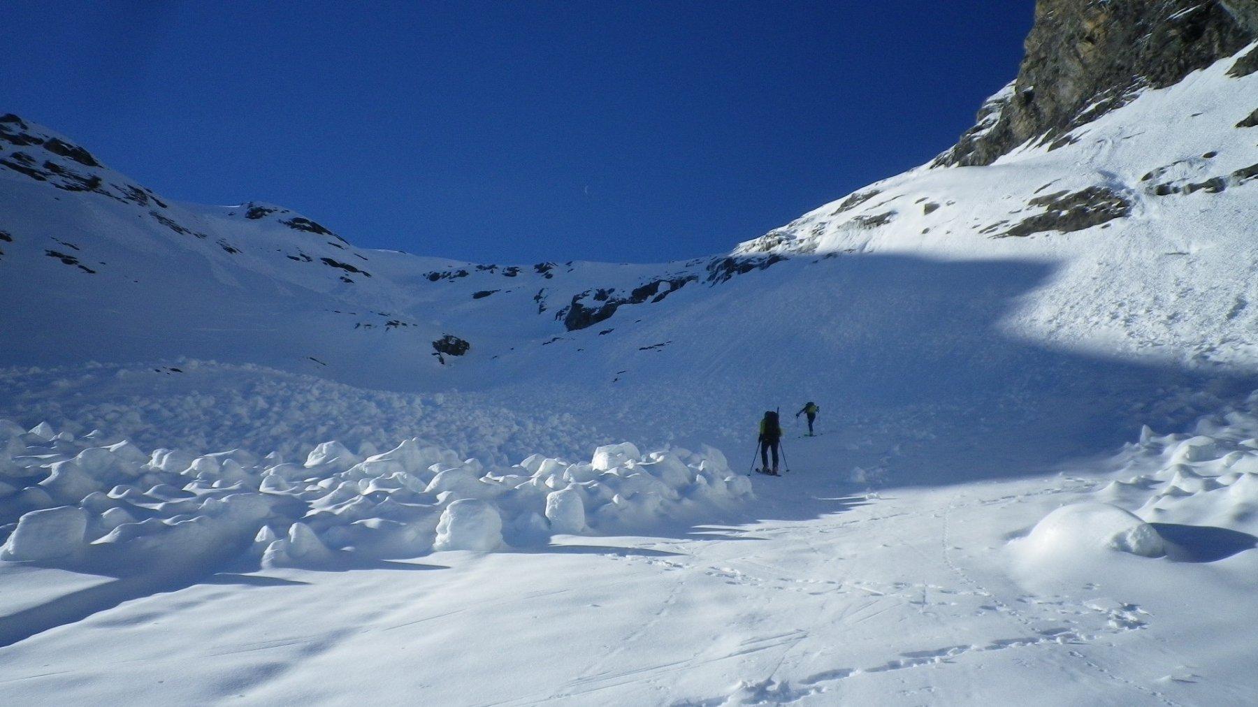 Appena calzati gli sci, intorno ai 2500 mt