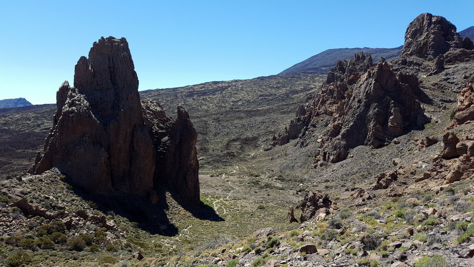 Roques de Garcia e sentiero di discesa.