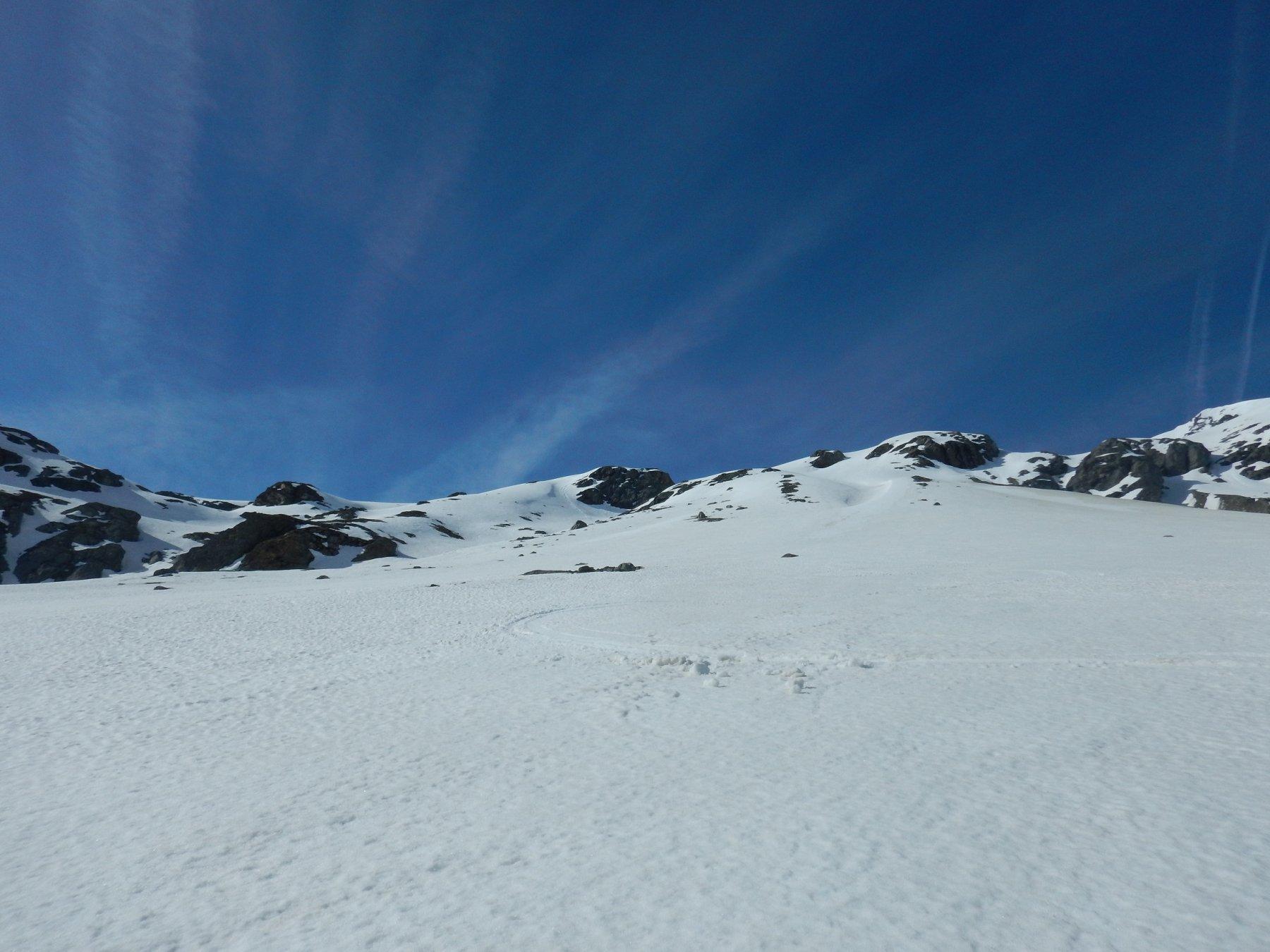 ancora bella neve primaverile nella parte bassa