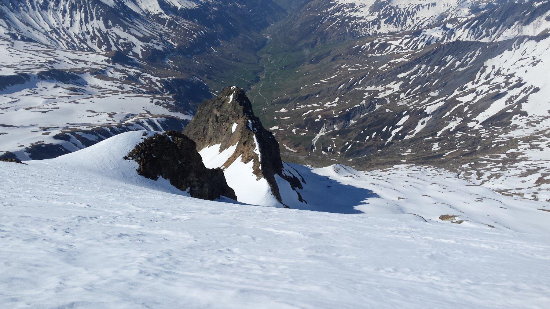 il tratto ripido del ghiacciaio