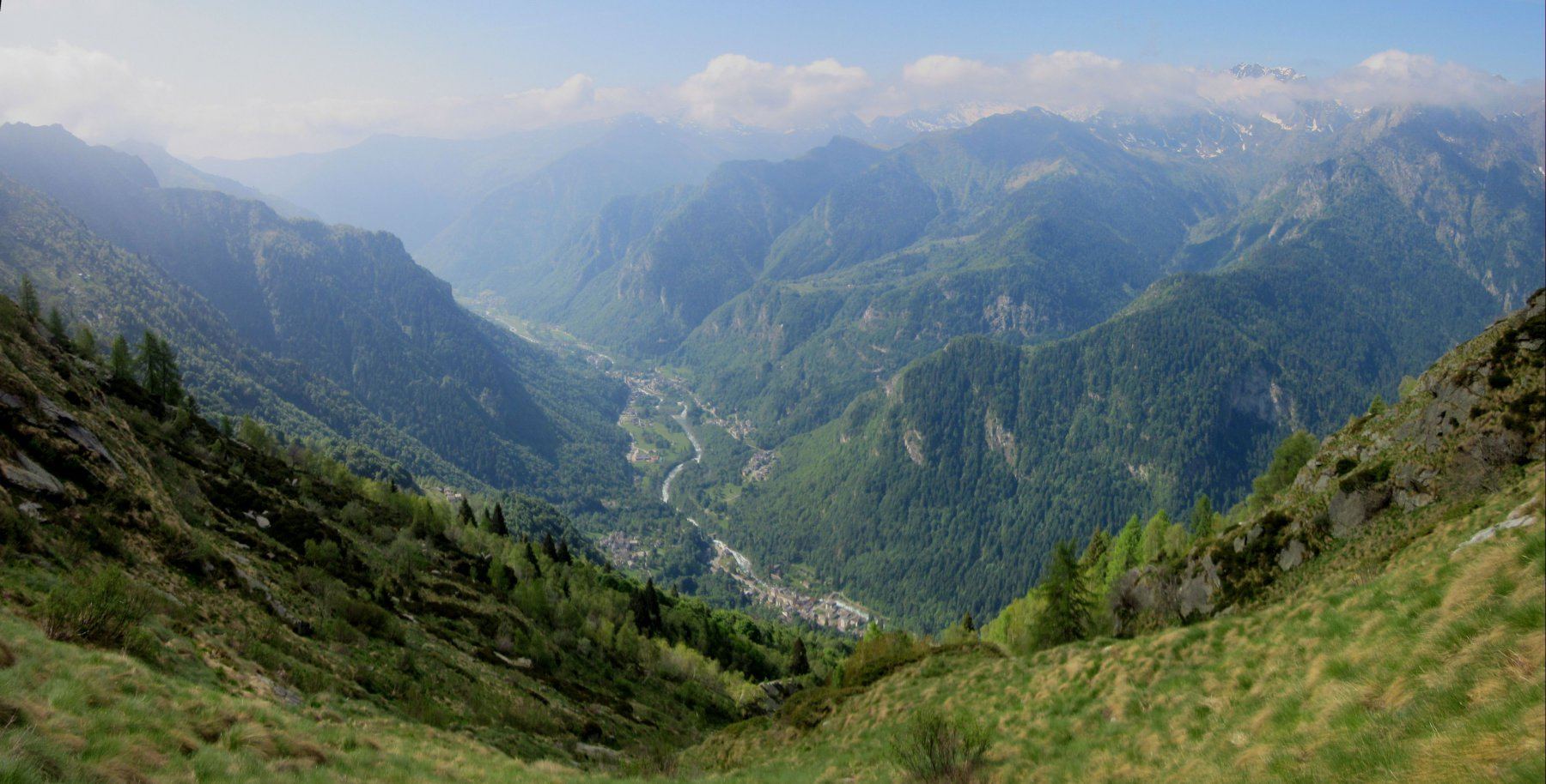 Panorama dall'Alpe  Pianello m. 1620