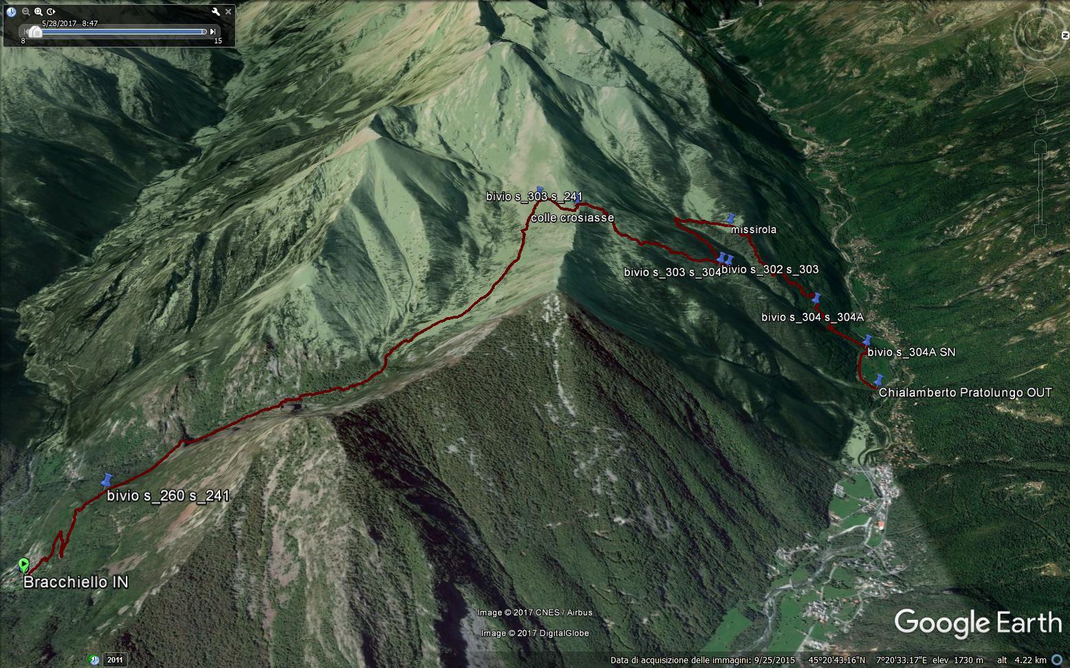 google gps trak image. Immagine del percorso.