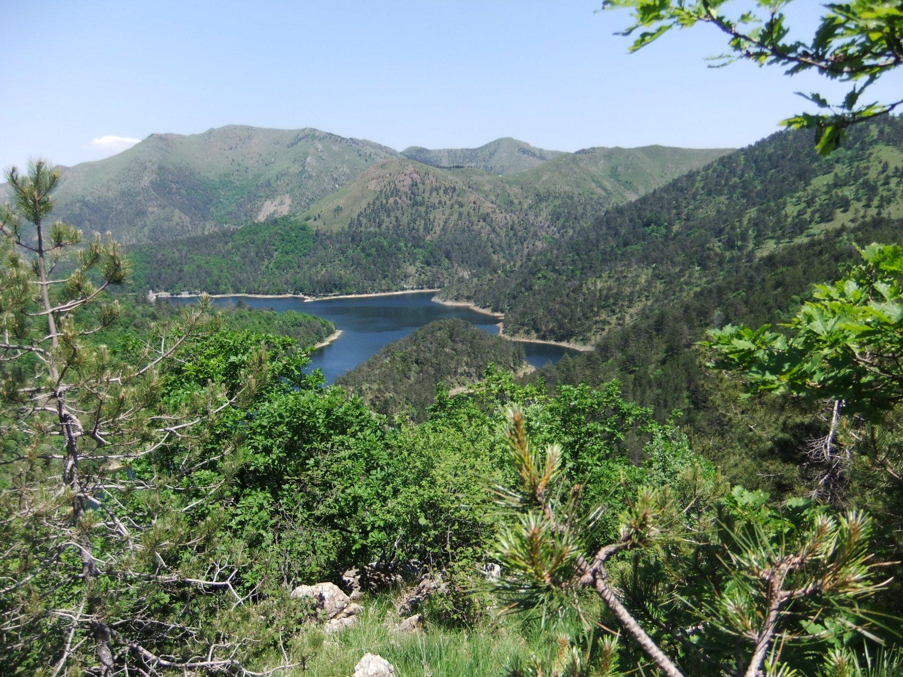 Il Lago Lungo dall'alto