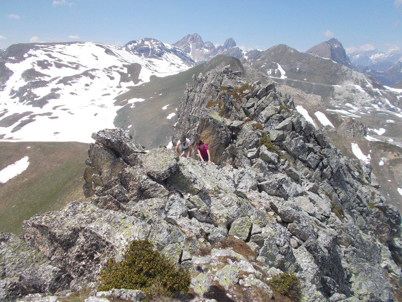 sulle facili rocce del Parvetto