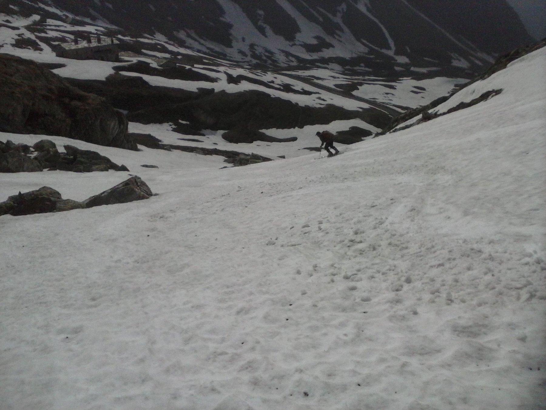il tratto finale in vista di Montagna Baus..