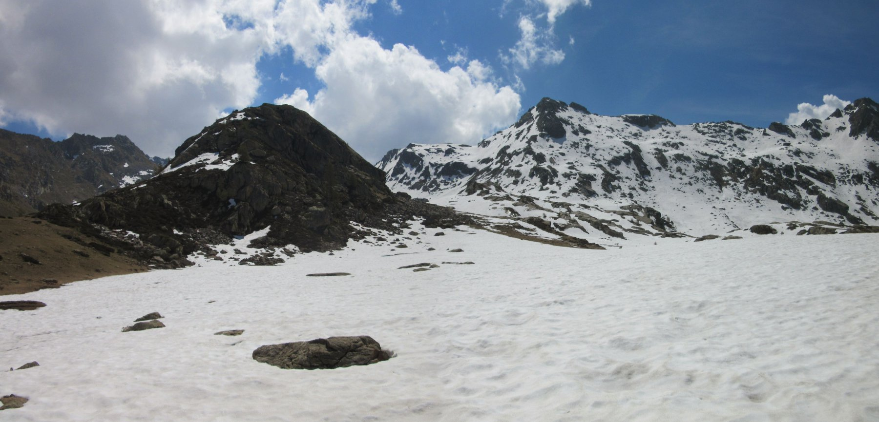 Verso il Monte Kick a sinistra