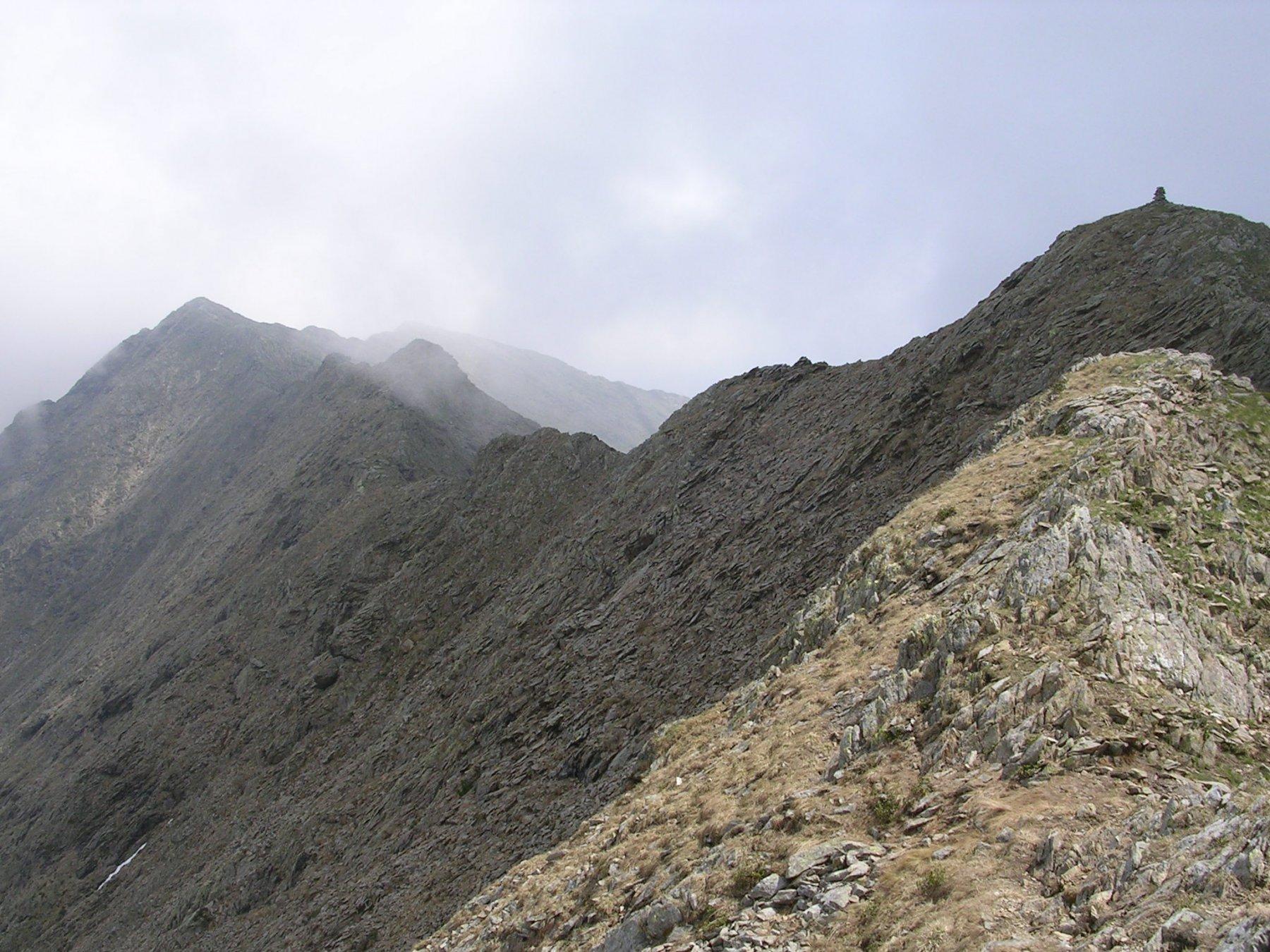 Dalla cima verso la Torretta del prete