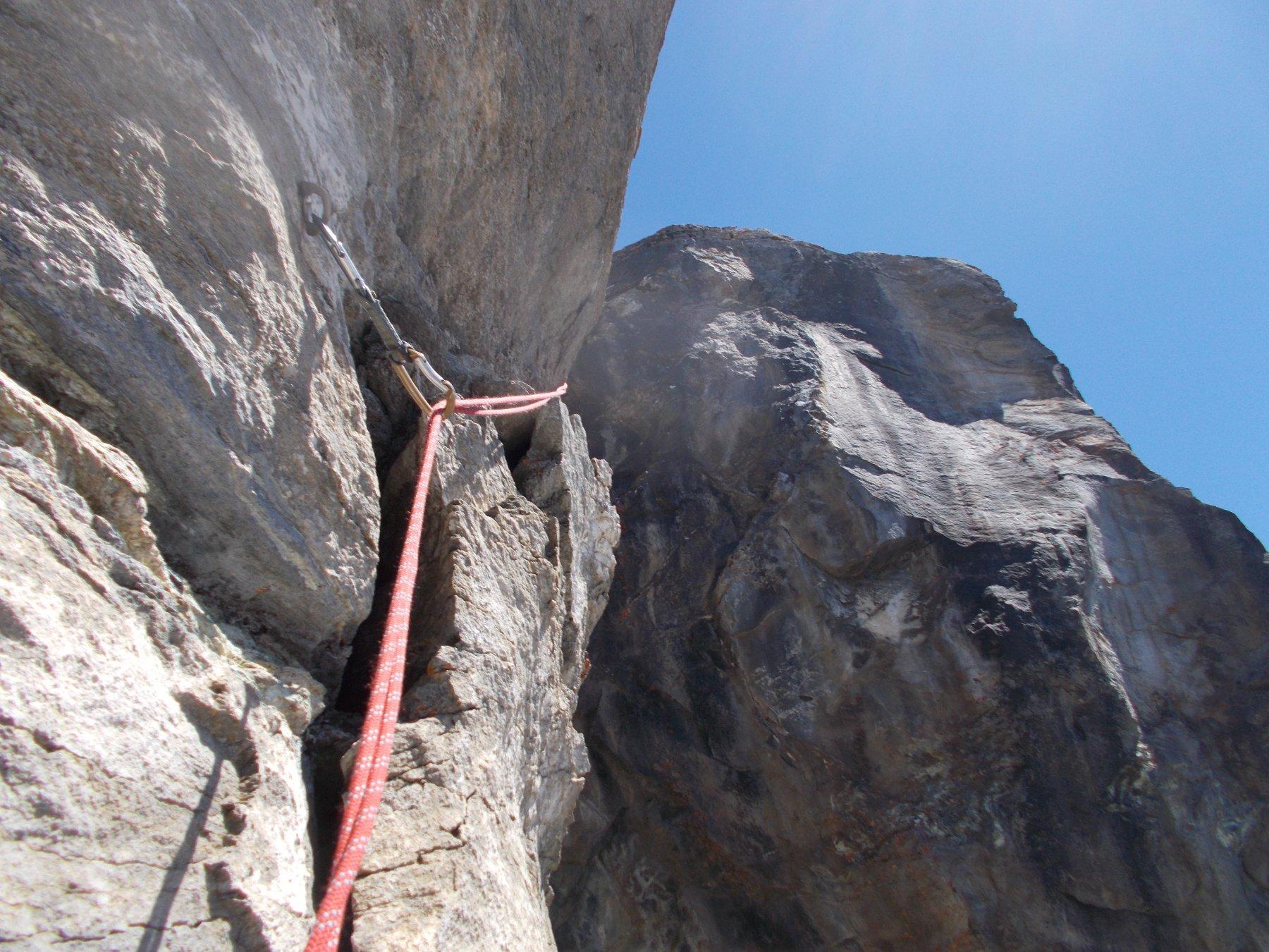 ultimissima fatica..il muro finale poco sotto la croce di vetta..