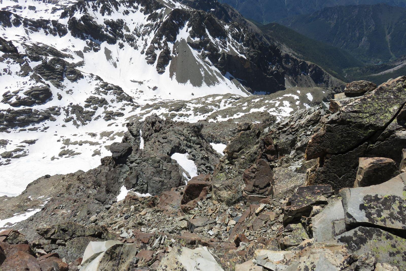 il versante sud del picco Ajaccio