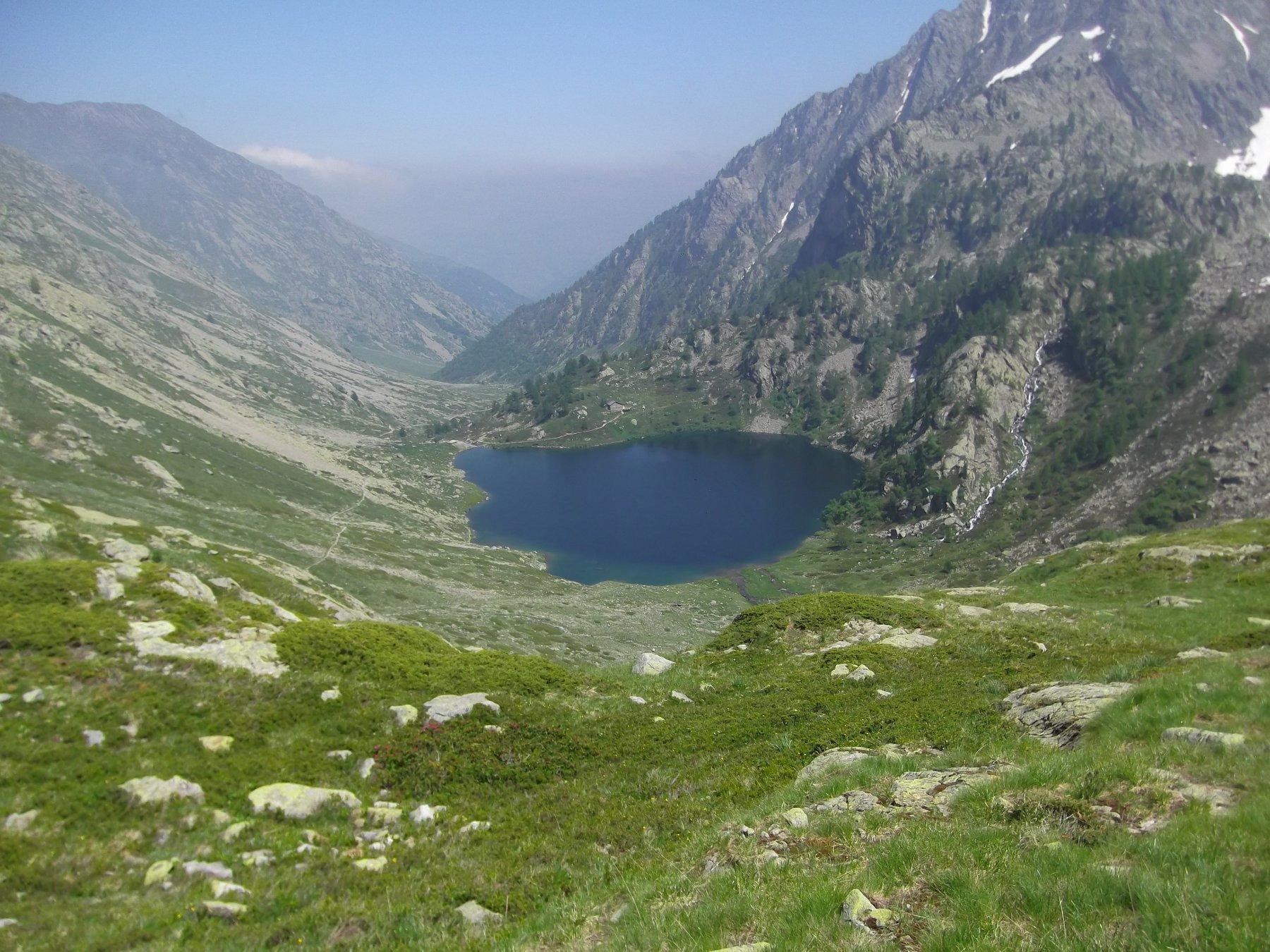 Lago Sottano di Sella con Vallone della Meris.