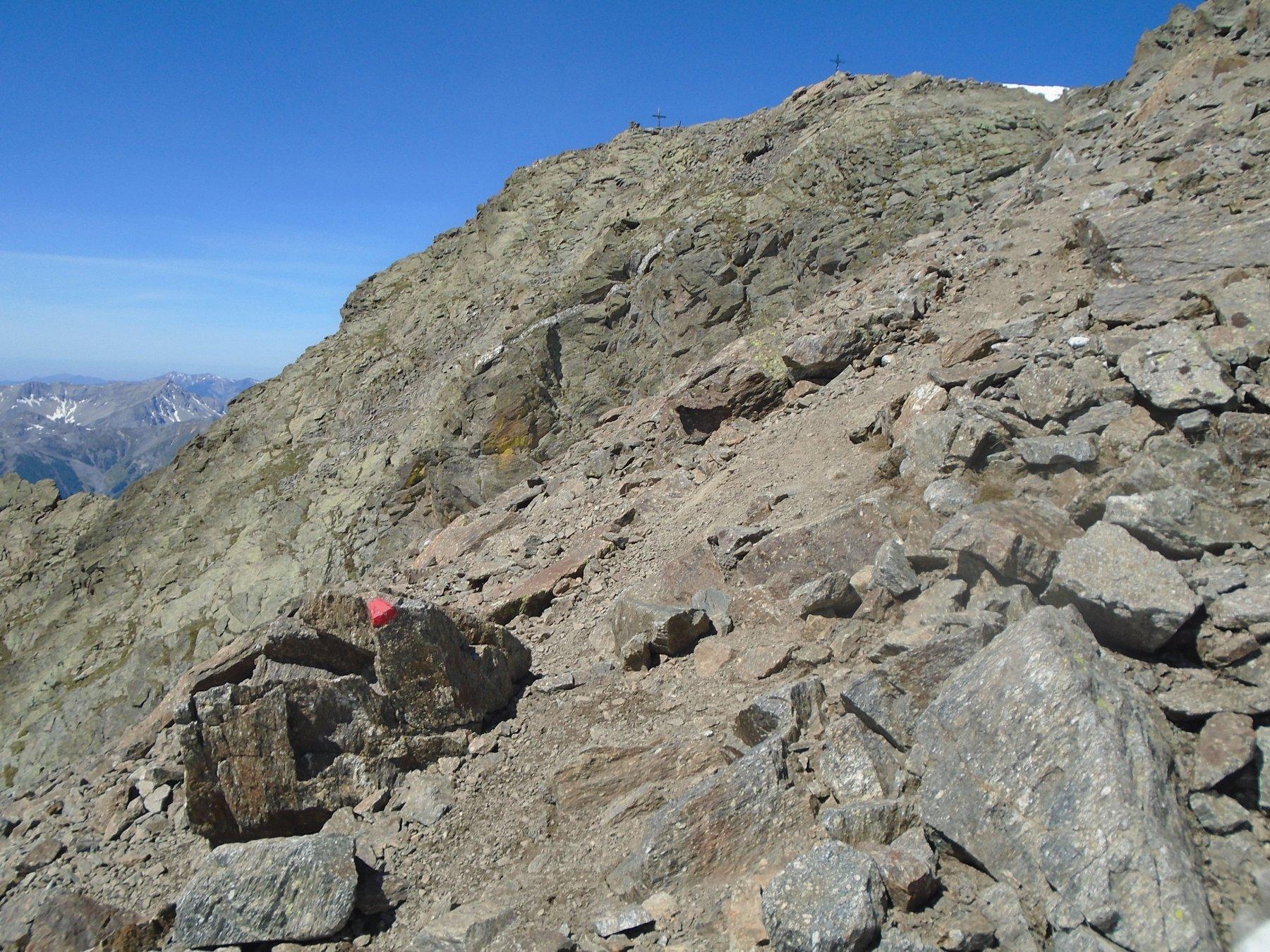 Breve tratto rimanente di cresta per la vetta