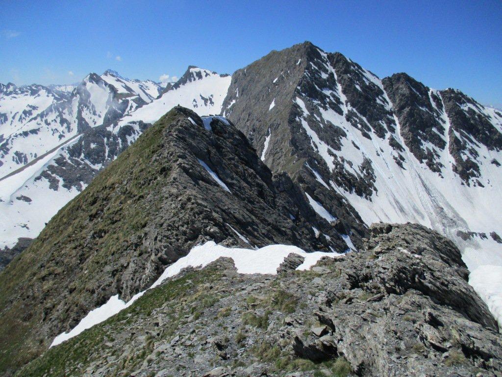 cima del Lungin vista dalla cresta