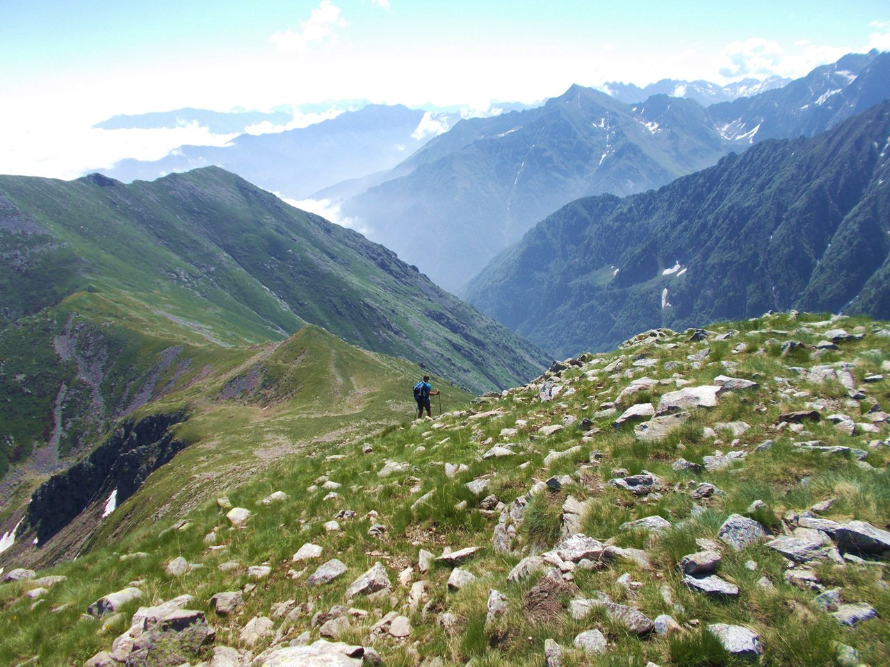 Ventabren (Monte) e Monte Bourel da Sant'Anna per il Colle di Marchiana, anello per il Monte Merqua 2017-06-15
