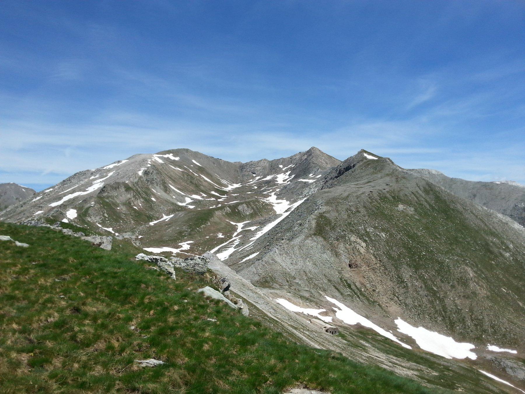 Monte Ferra, Punta di Fiutrusa, Monte La Vigna da Monte la Pèrtia