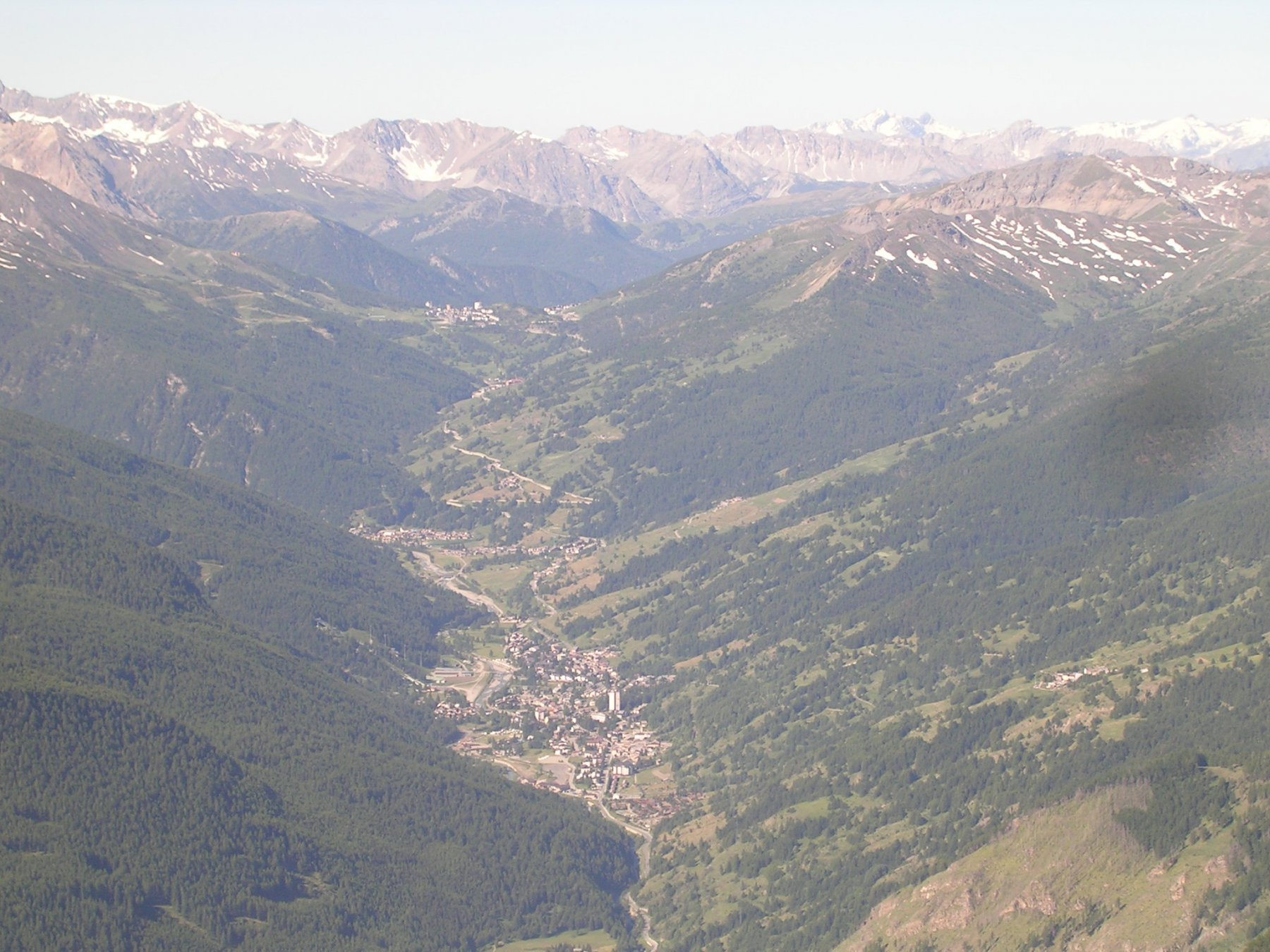 Panorama sull'alta val Chisone