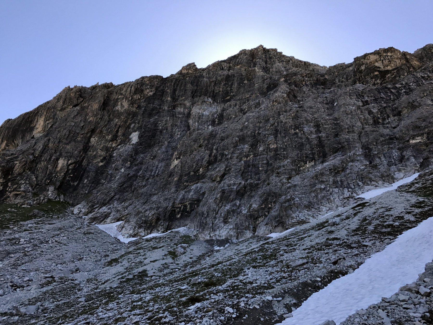 La parete. Monte Furgon