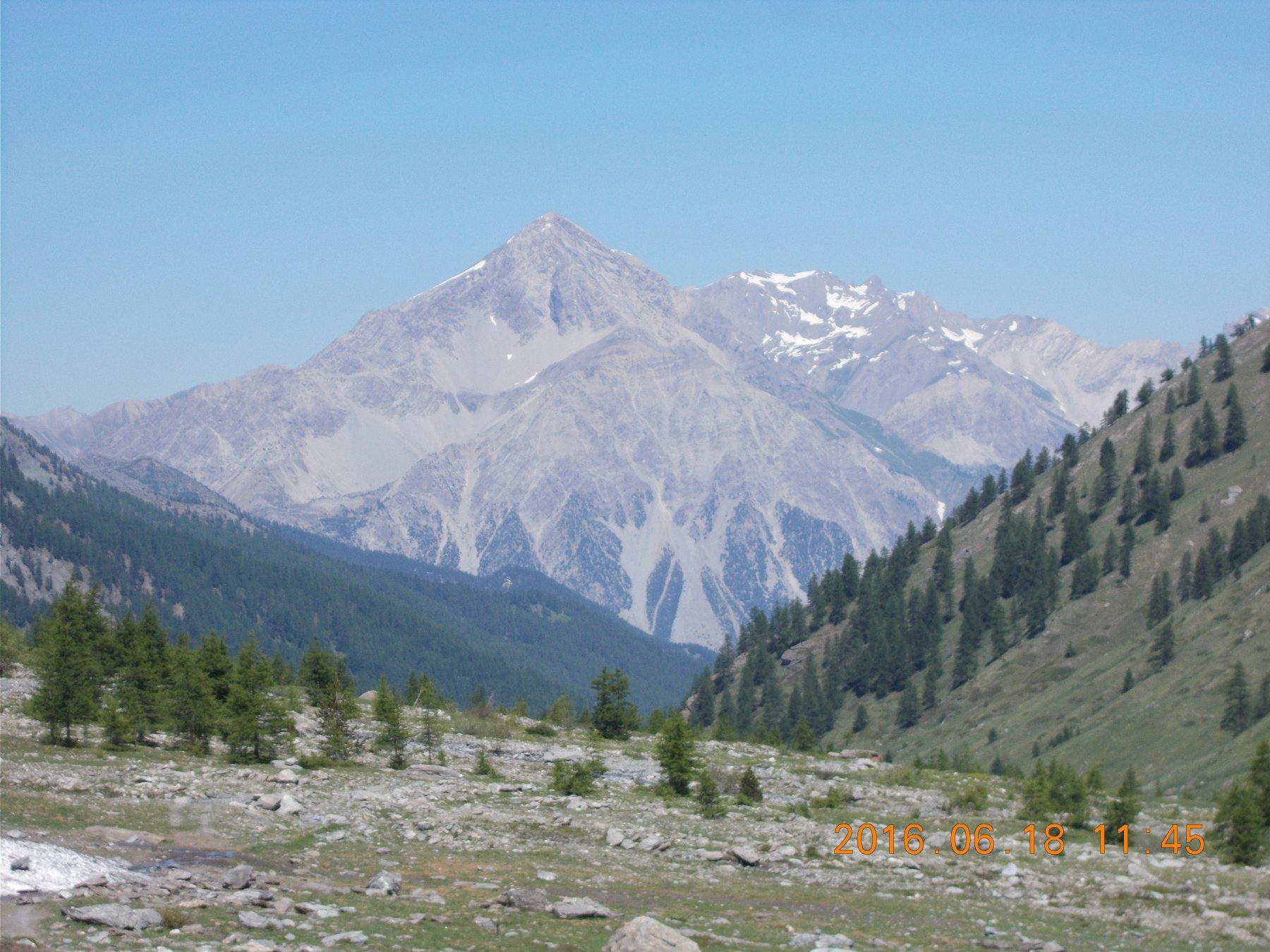 Al rientro vista sul Monte Chaberton.