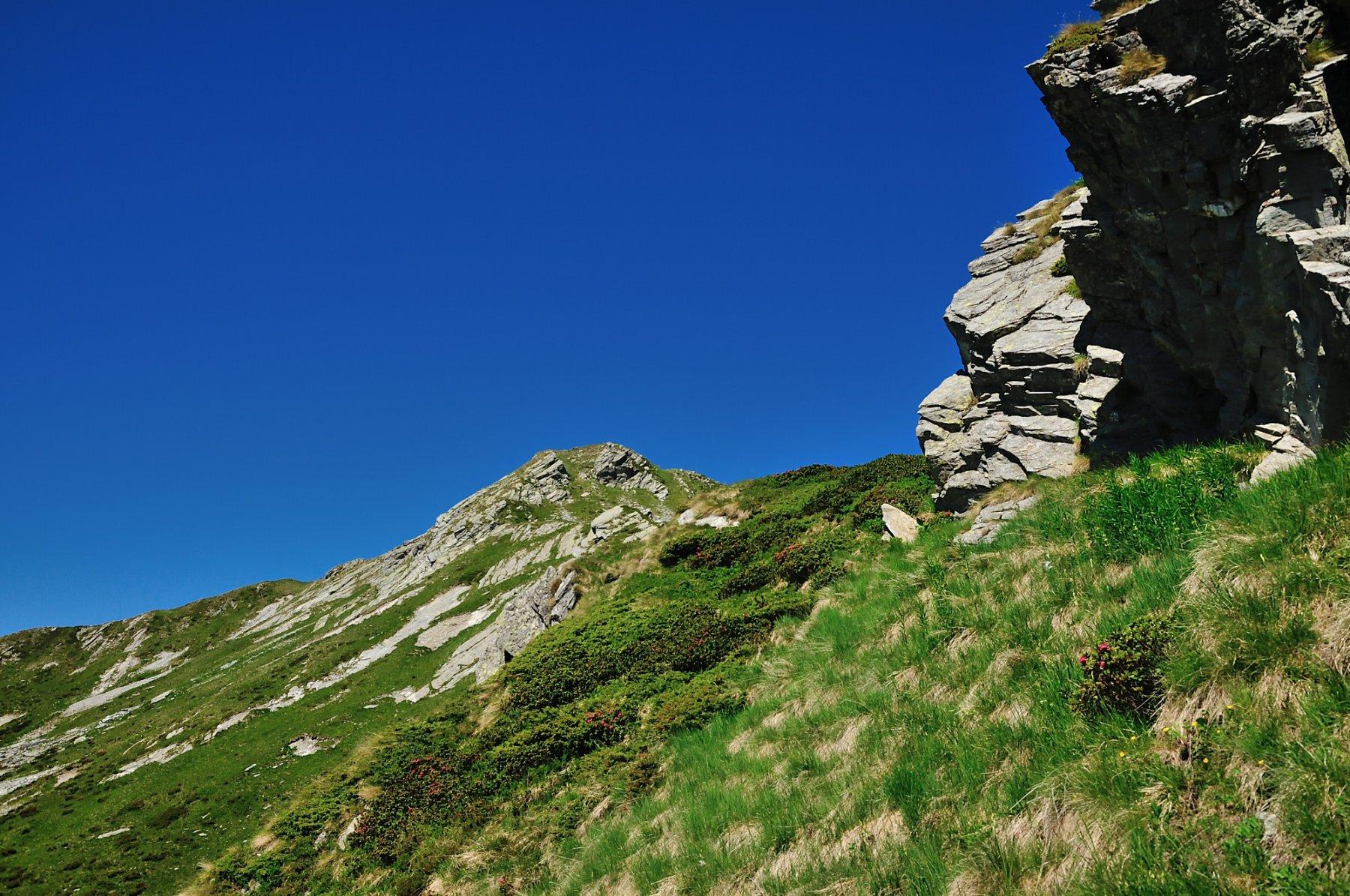 Ultime rocce prima di uscire in cresta