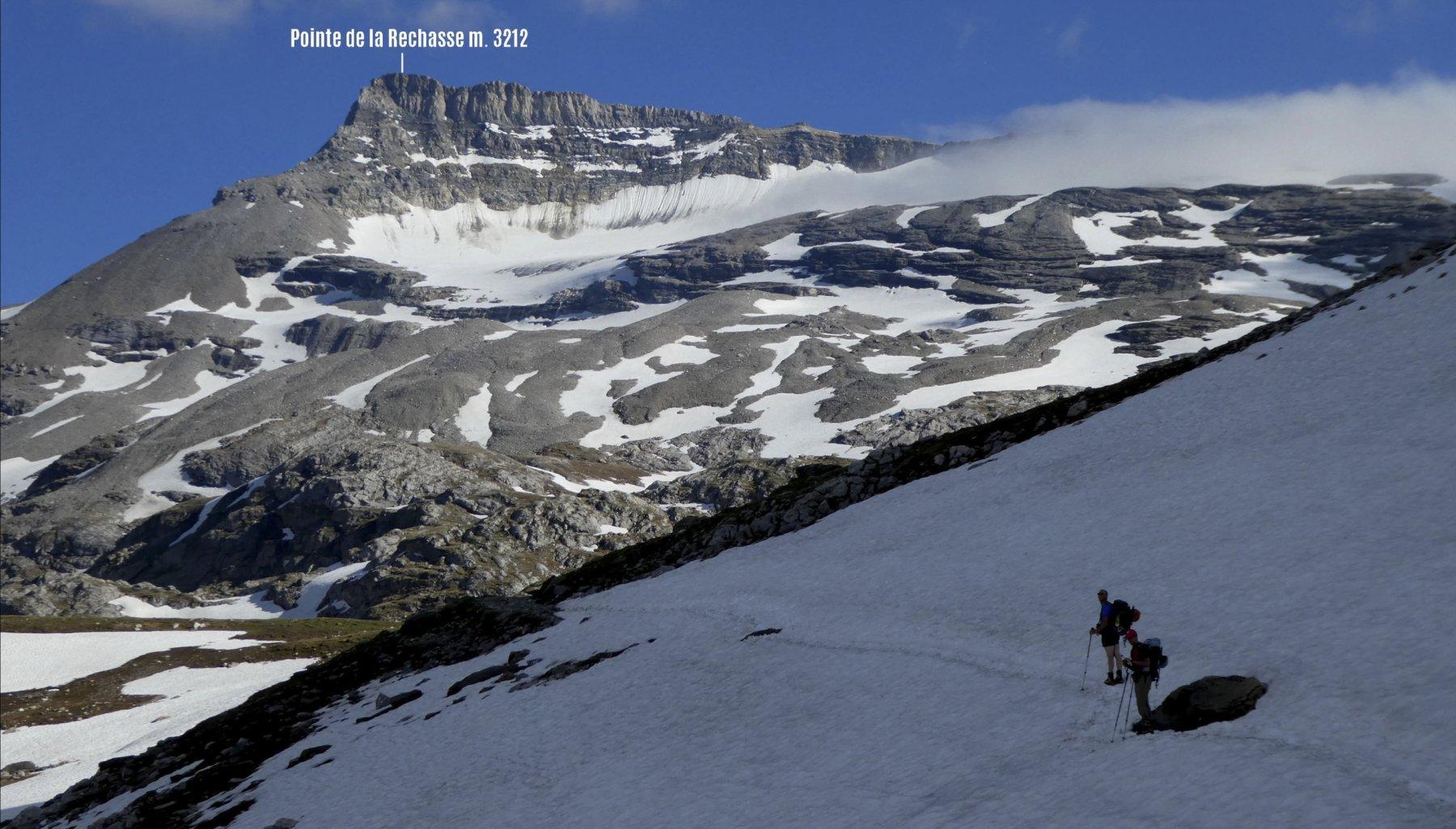 visuale panoramica a breve distanza dal Refuge Col de la Vanoise