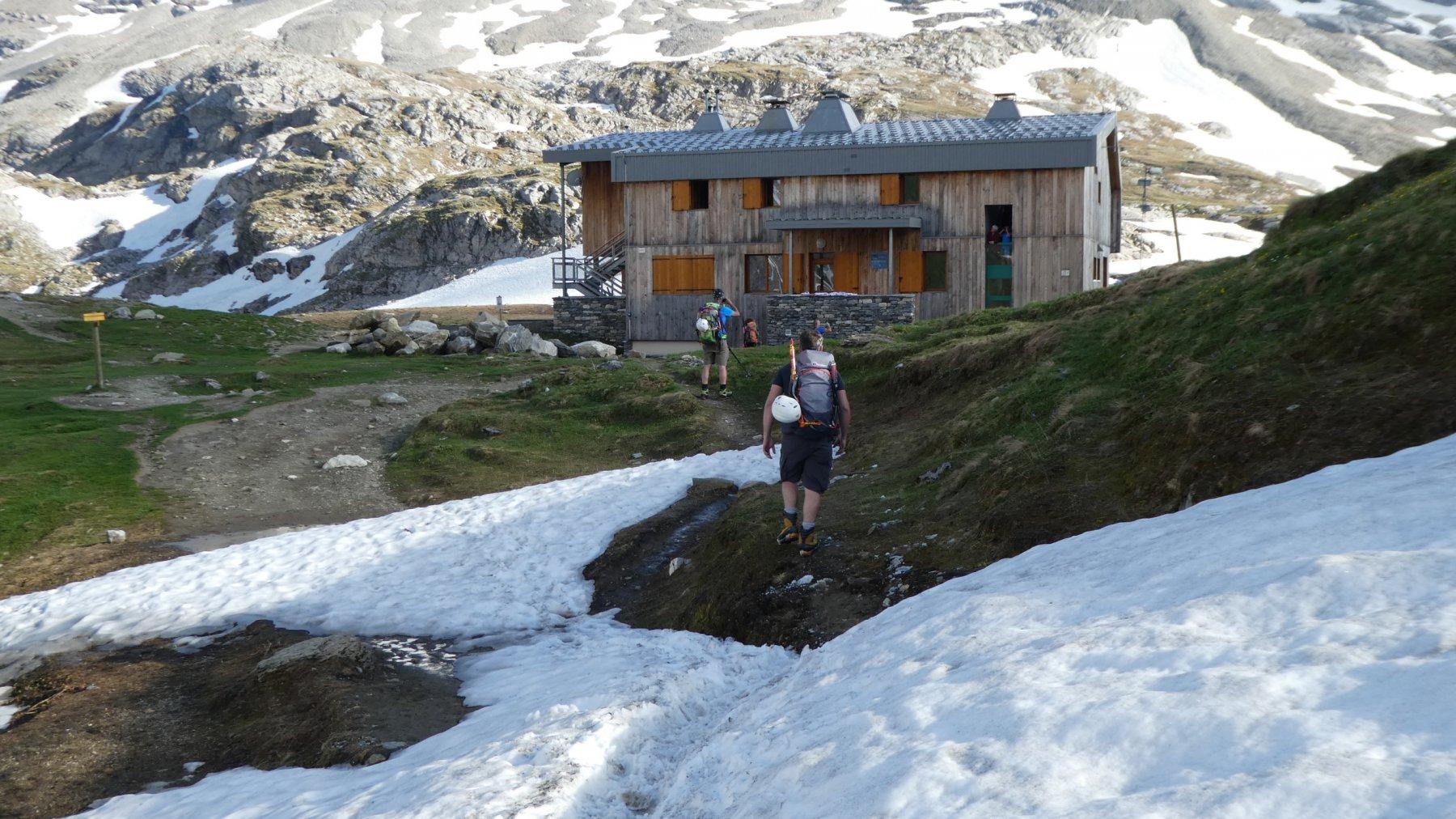 l'arrivo al Refuge Col de la Vanoise