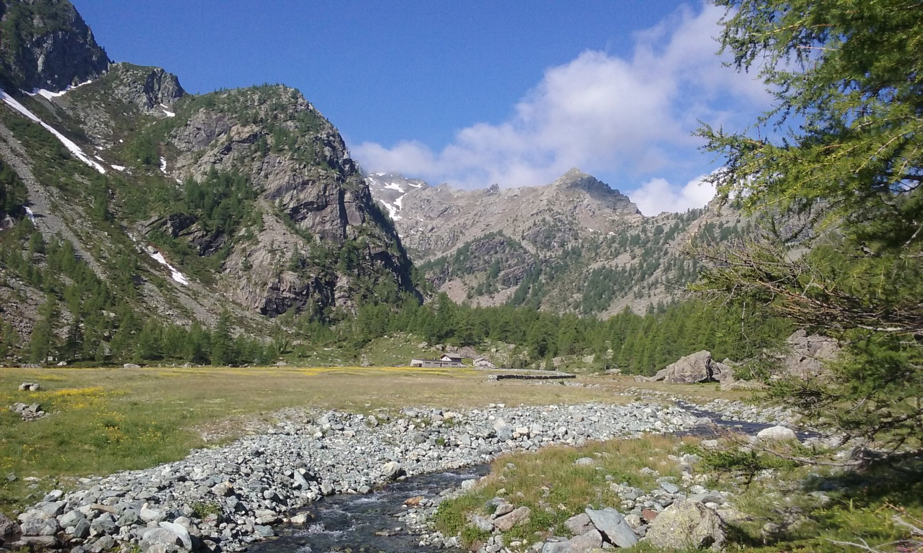 L'Alpe Vercoche e il Bec Laris in lontananza