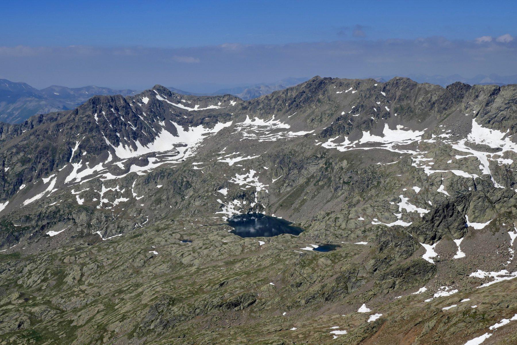 Visto sui Laghi Lausfer, Rocca Negra e cima di Malaterra