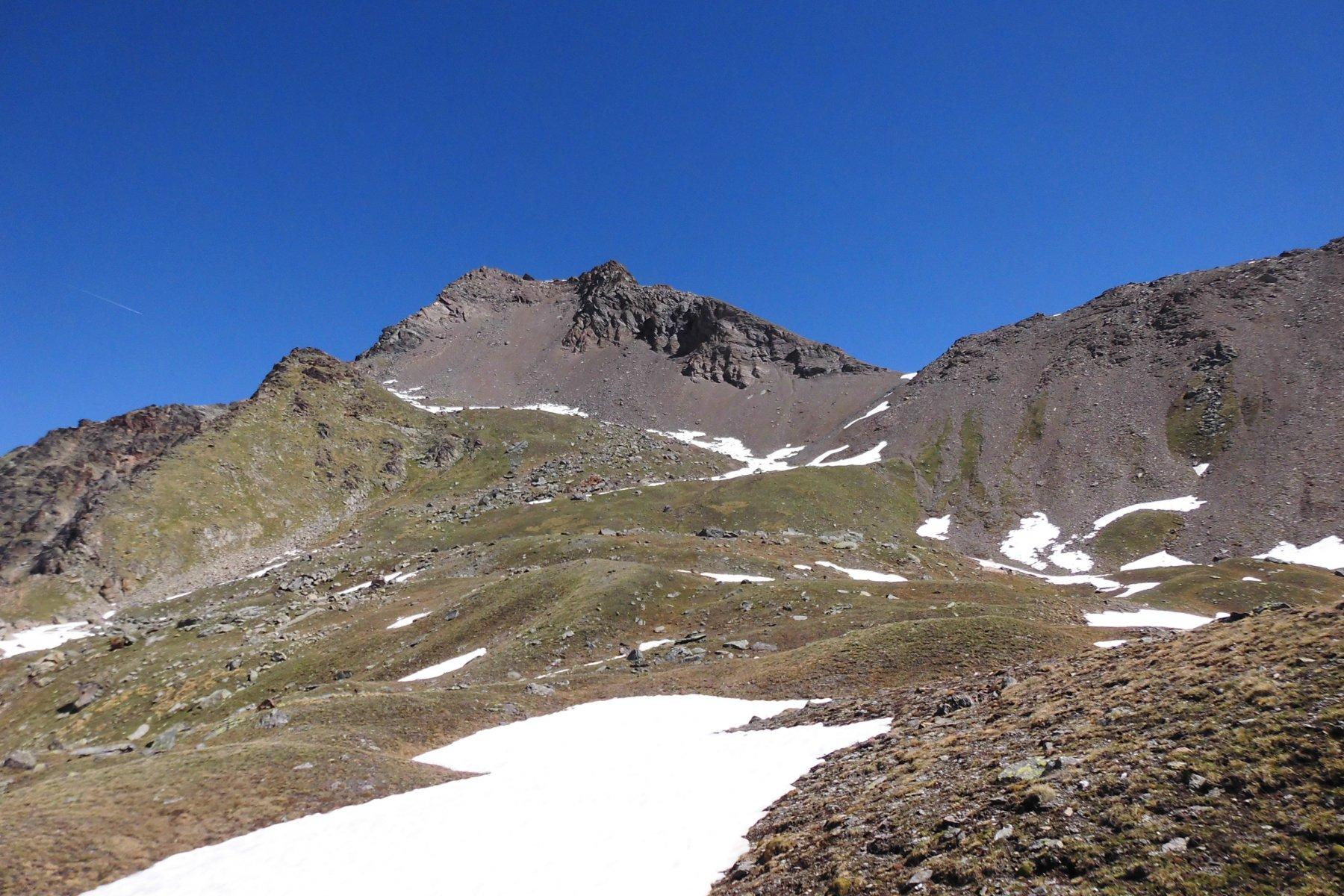 Colle Vallonet sulla dx e Punta di Leppe sulla sx
