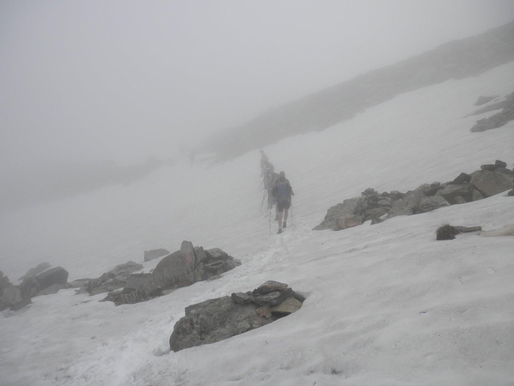 traversamento del nevaio