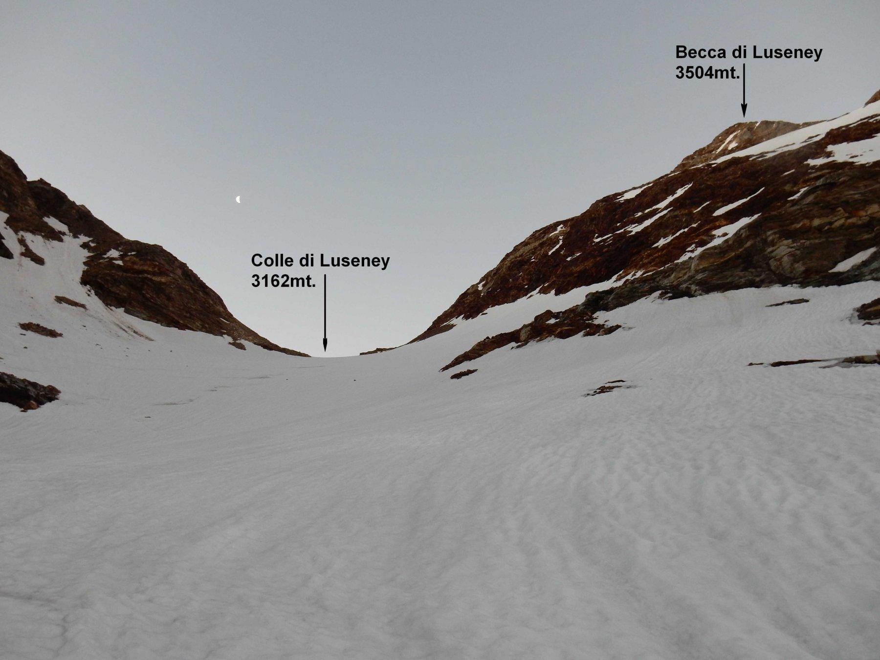 Sul ghiacciaio di Luseney