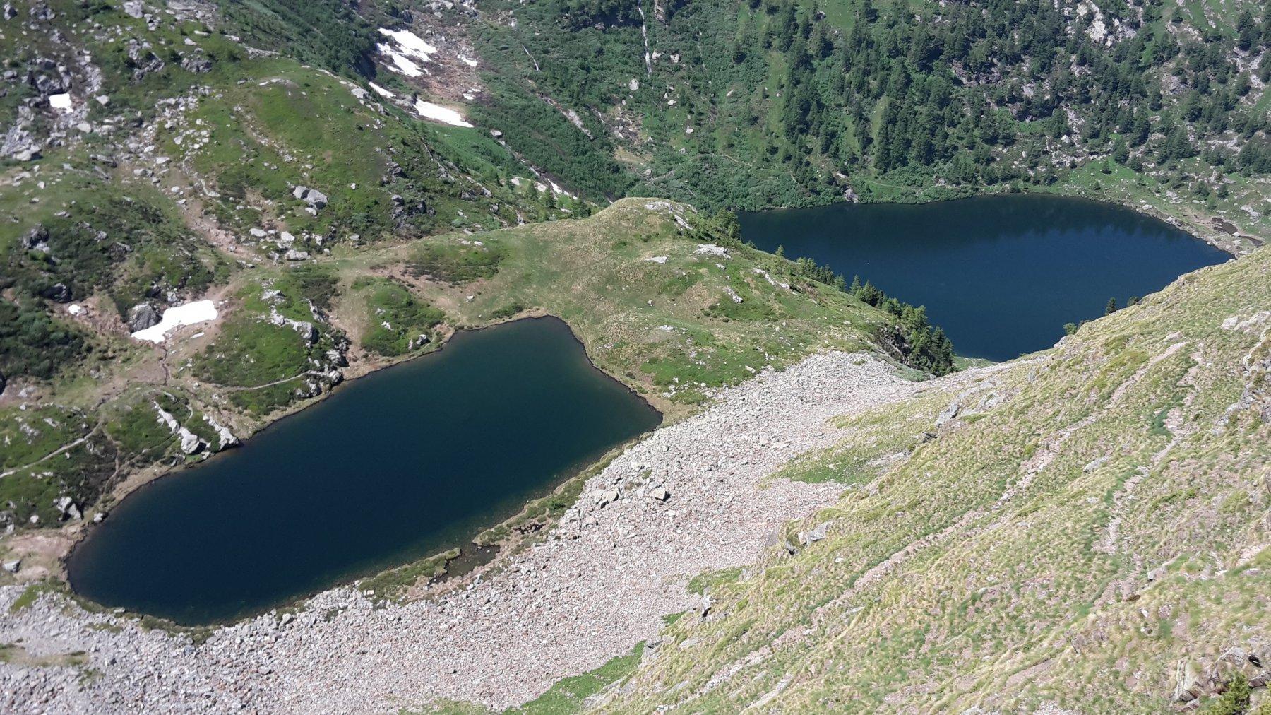 I laghi di Frudiere dal Colle di Frudiere