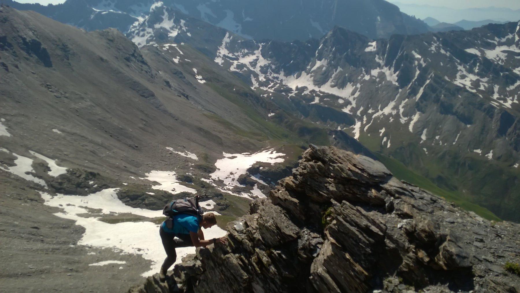 Aiguillette (Monte) da Grange del Rio e il Vallone del Pis 2017-06-22