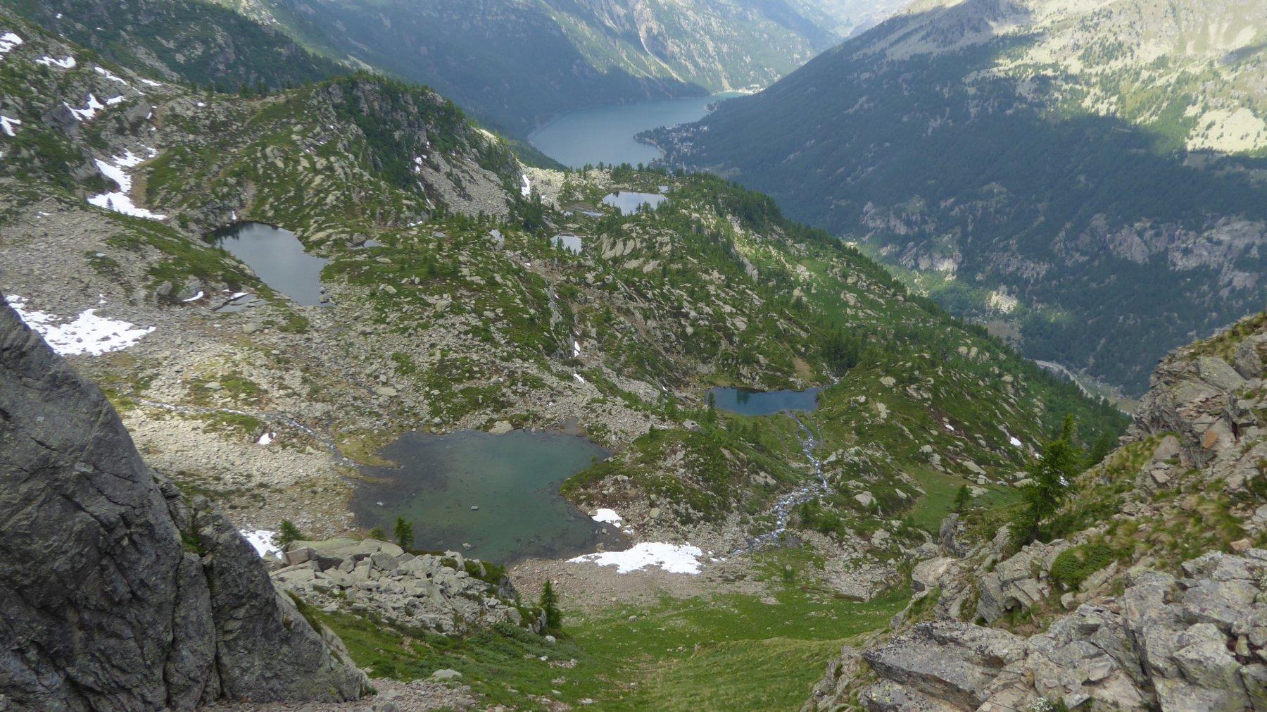 Vista sui laghi, dalla Bocchetta Fioria superiore