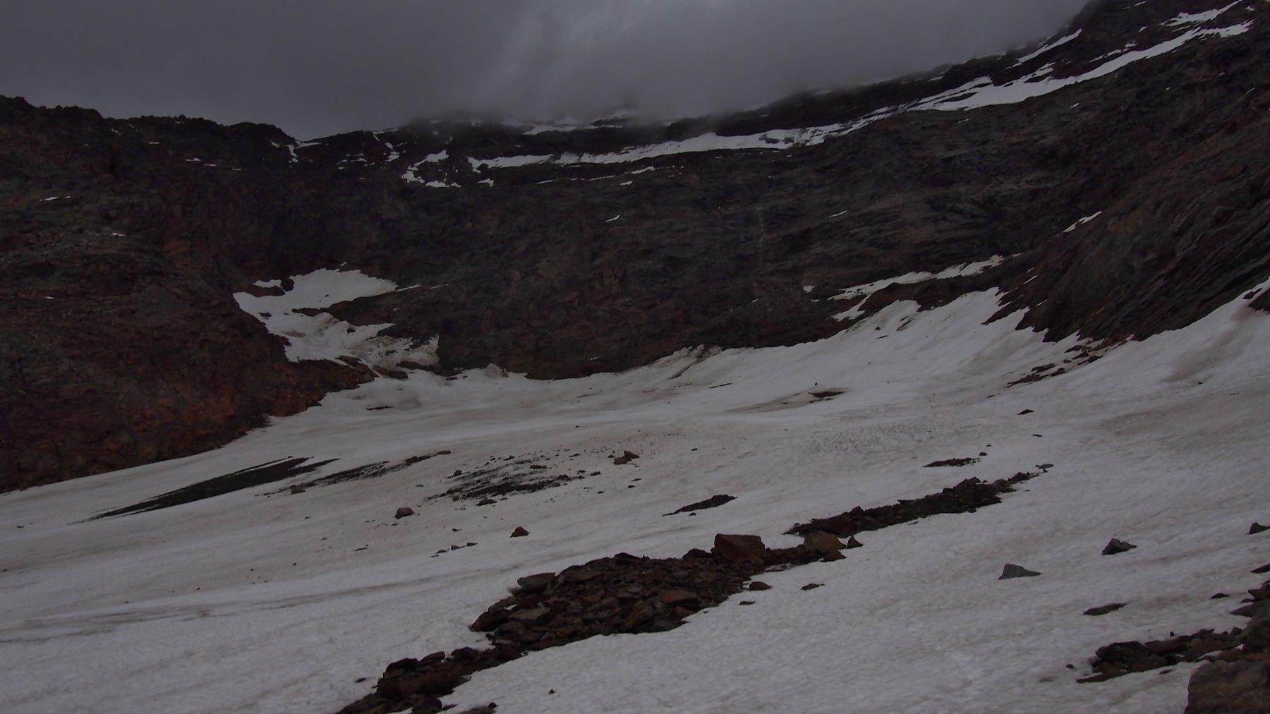 quel che rimane del ghiacciaio