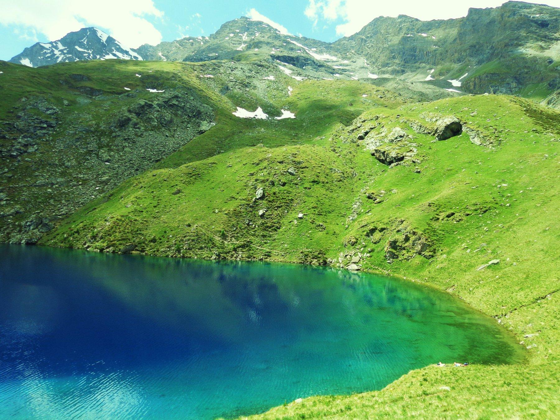 Lago Lavodilec dall'alto e Punta Tersiva a sinistra